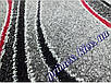 """Синтетический ковер Daffi Karat """"Мазки"""", цвет серо-красный, фото 3"""