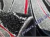 """Синтетический ковер Daffi Karat """"Мазки"""", цвет серо-красный, фото 4"""