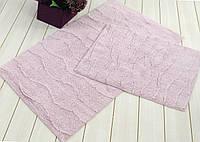 Набор ковриков для ванной  IRYA хлопок 60х100+45х60  JASMINE лиловый