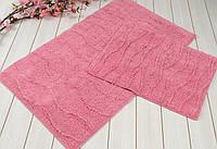 Набор ковриков для ванной  IRYA хлопок 60х100+45х60  JASMINE розовый