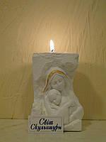 Матір Божа з Ісусиком підсвічник білий