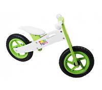 Беговел Tobi Toys зеленый, велобег