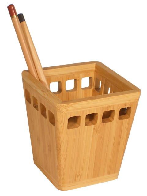 """Настольная подставка """"Cabinet"""" для ручек, бамбук, 36110."""