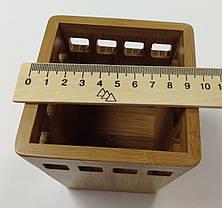 """Настольная подставка """"Cabinet"""" для ручек, бамбук, 36110. , фото 3"""