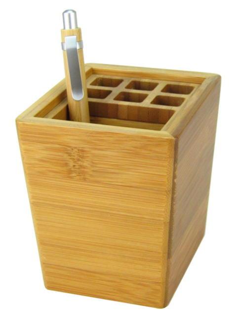 """Настольная подставка """"Cabinet"""", бамбук, 36101, (6*8*11)."""