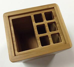 "Настольная подставка ""Cabinet"", бамбук, 36101, (6*8*11). , фото 2"