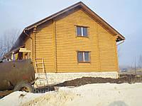 Будівництво будинків з оціліндрованого брусу., фото 1