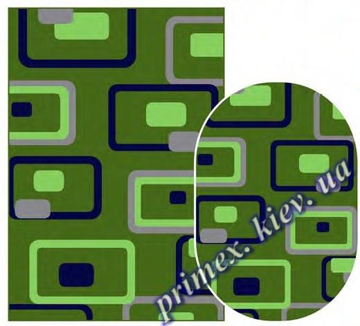 """Синтетический ковер Daffi Karat """"Неон"""", цвет зеленый"""