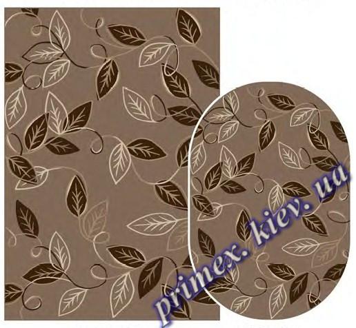 """Синтетический ковер Daffi Karat """"Листья на ветру"""", цвет коричневый"""