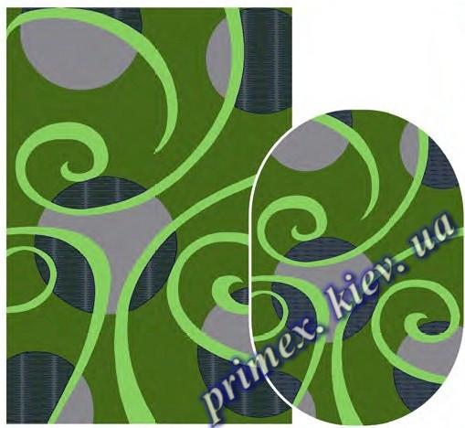 """Синтетический ковер Daffi Karat """"Карусель"""", цвет зеленый"""