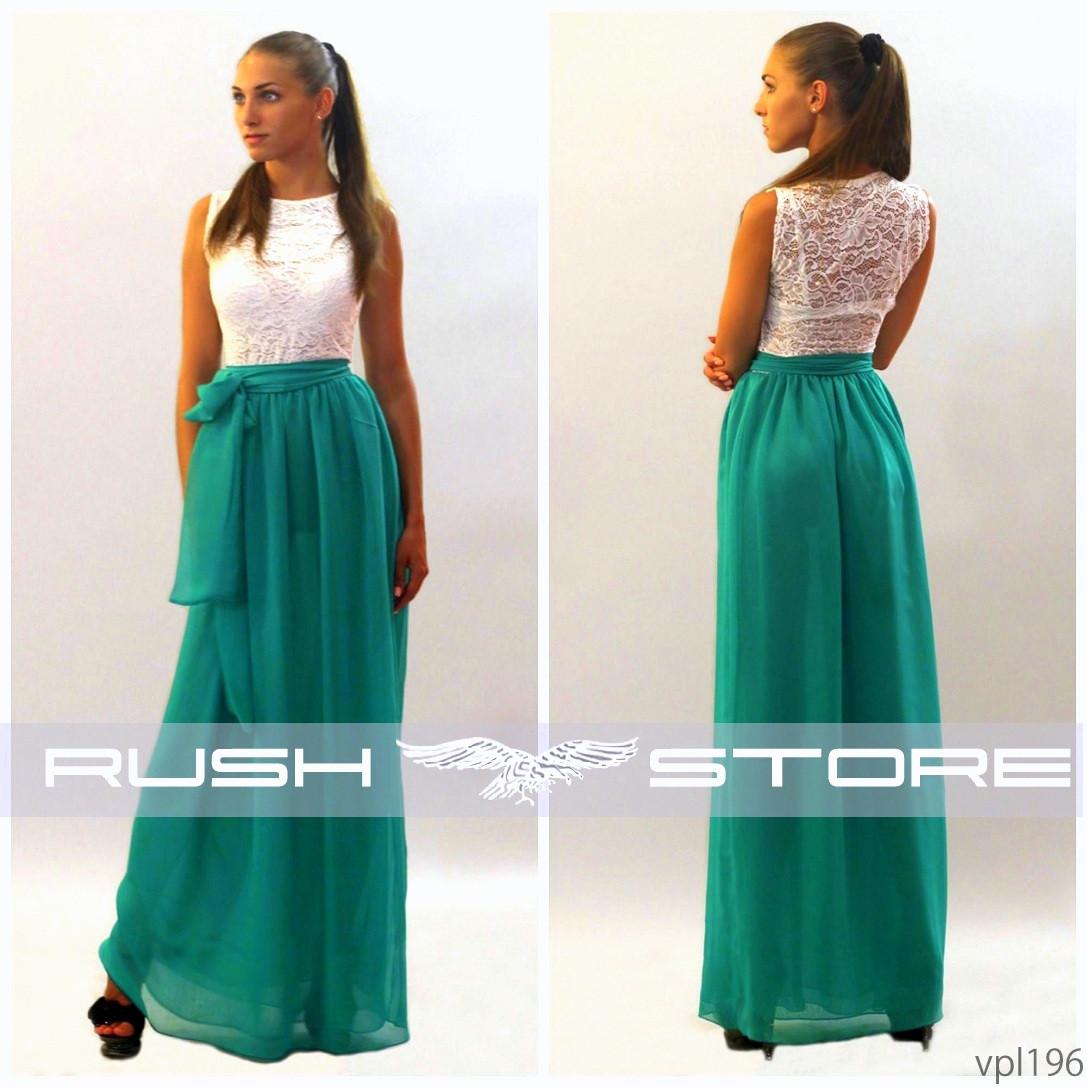 1be5b47d2d272af Летнее шифоновое платье в пол - RUSH STORE интернет-магазин женской одежды  в Николаеве