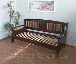 """Дерев'яний диван ліжко з м'якою спинкою """"Орфей - 2"""", фото 3"""