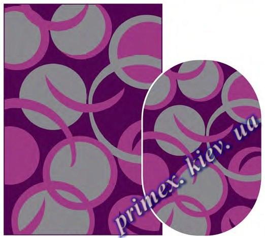 """Синтетический ковер Daffi Karat """"Кружочки"""", цвет фиолетовый"""