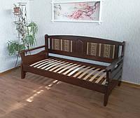 """Кровать """"Орфей - 2"""". Массив - сосна, ольха, дуб."""
