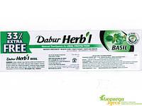 Зубная паста Дабур Базилик,Dabur Herb'l Basil. Обеспечивает полную гигиену полости рта и  отбеливающих свойств