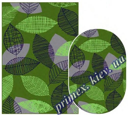 """Синтетический ковер Daffi Karat """"Листья паутины"""", цвет зеленый"""