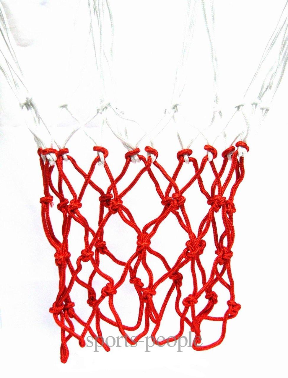 Сетка баскетбольная, в комплекте 2 шт., белая с красным» - Sports-People - интернет-магазин спортивных товаров! в Одессе