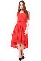 Женское летнее платье с перфорацией