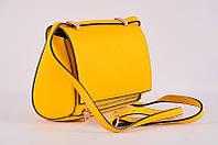 Желтый клатч из натуральной кожи Virginia Conti  ART1318