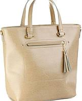 Кожаная женская бежевая сумка  Meglio