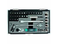 """Набор бит и головок торцевых, карданный ключ, трещотка, адаптер Gross 11625 (1/4"""", 37 шт.) 11625"""