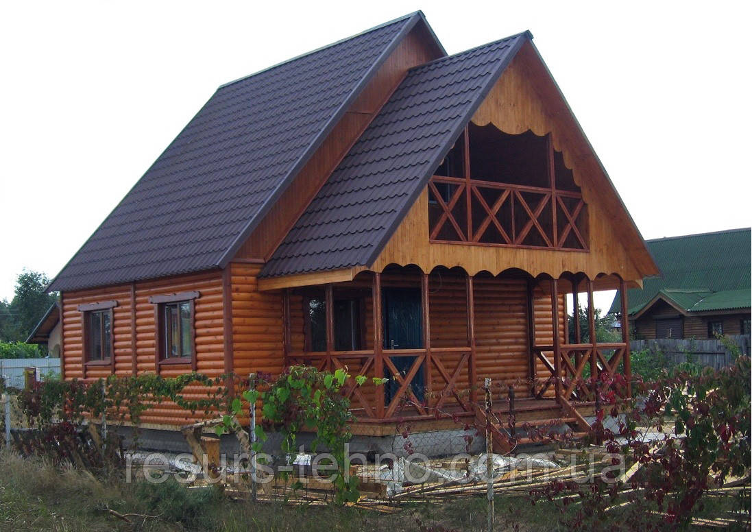 Дом дачный двухэтажный