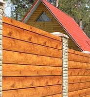 Забор из металлического профиля «Брус»