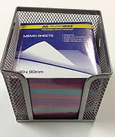 Бокс для бумаги, BM6215-01, металл, 10*10*10, серый.