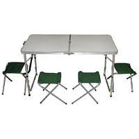 Набор мебели туристический складной стол + 4 стула (Libao)
