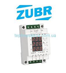 Трехфазное реле контроля напряжения  ZUBR 3F для трехфазных двигателей (DS Electronics Украина)