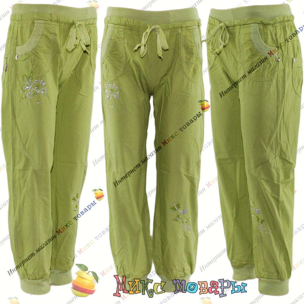 Летние облегчённые штаны для девочек с 3 до 8 лет (4289-1)