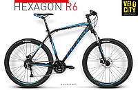 "Велосипед Kross Hexagon R6 27.5"" (2016) black-blue mat, фото 1"
