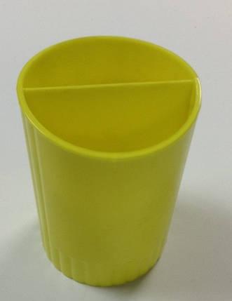 """Подставка для ручек """"Стаканчик"""", КИП, желтый. Цена розницы 11 гривен., фото 2"""