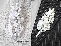 """""""Воздушное облако"""" бутоньерка для жениха или свидетеля. Все для свадьбы, фото 1"""