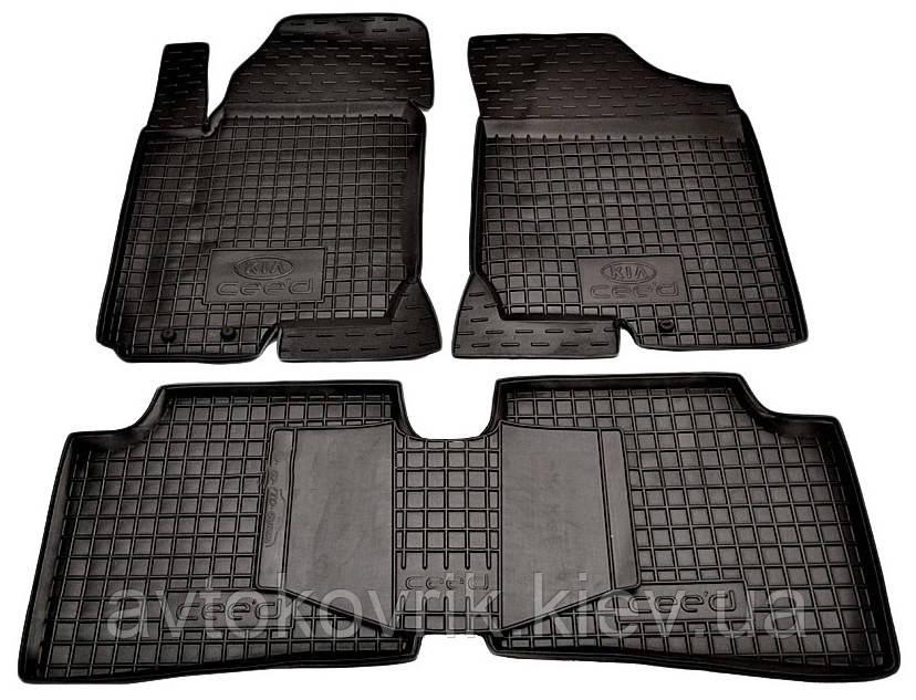 Полиуретановые коврики в салон Kia Ceed I (ED) 2006-2012 (AVTO-GUMM)