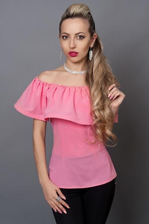 Стильная модная блуза из креп-шифона, 40,42,44,46