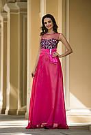 Выпускное  платье с шифоновой юбкой