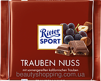 Шоколад Ritter Sport TRAUBEN NUSS (С ИЮМОМ И ОРЕХОМ) Германия 100г, фото 1