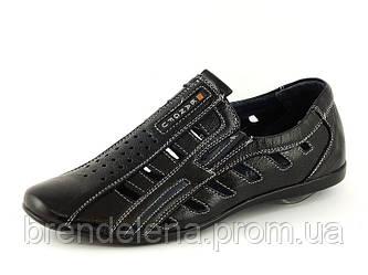 Кожаные туфли-мокасины  подростковые ( р 39-41)