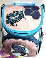"""Рюкзак Class №9618 """"Shark"""", 2 отделения, (34*25*13), синий. Цена розницы 590 гривны."""