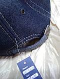 Бейсболка из двухцветной джинсы серая с тонким флисом и без флиса 56-60, фото 5