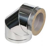Колено 45˚ для дымохода из нержавеющей стали с термоизоляцией (нерж/нерж) d 150/220