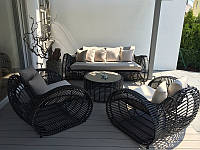 Унікальний комплект садових меблів з штучного ротангу