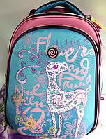 "Рюкзак Class №9629 ""Fauna"", 2 отделения, (39*28*21), голубо-розовый. Цена розницы 815 гривен."