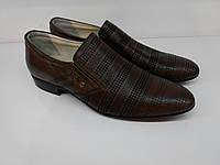 ETOR летние туфли коричневые