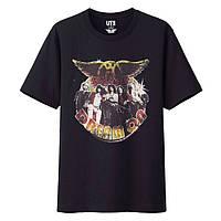 Футболка Uniqlo Men music icons Aerosmith Black