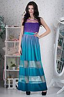 Выпускное платье с мерцающим верхом