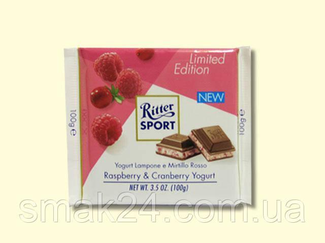 Шоколад Ritter sport HIMBEER VANILLE ( с малиной и ванилью) Германия 100 г