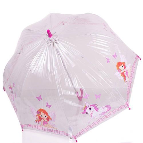 Нежный механический  зонт-трость для маленькой принцессы ZEST (ЗЕСТ) Z51510-16
