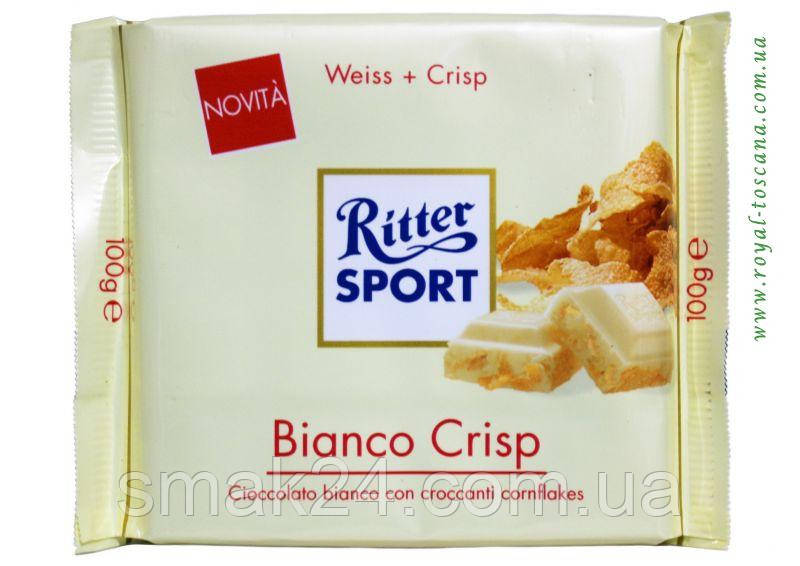 Шоколад Ritter sport WEISS+CRISP (белый шоколад с крипсами) Германия 100г
